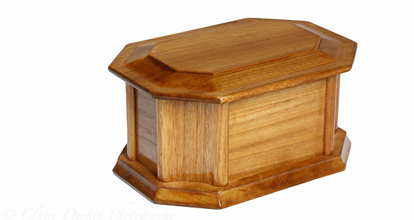 Oak Curved Ashes Casket